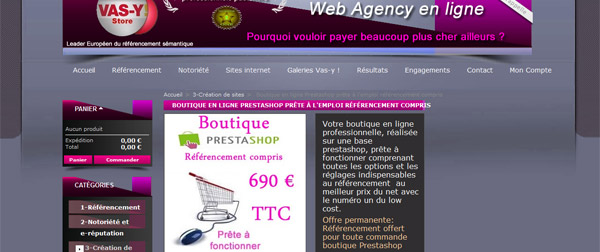 690 € le site e-commerce PrestaShop ... Hummmmm ça donne envie de Vas Y !